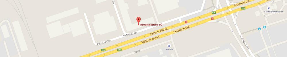 Polystyreeni leikkuri - Styrox leikkuri - kuumalankaleikkuri - Hotwire-Systems OÜ - Kartta